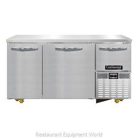 Continental Refrigerator CFA60-U Freezer, Undercounter, Reach-In
