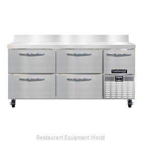 Continental Refrigerator CFA68-BS-D Freezer Counter, Work Top