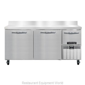 Continental Refrigerator CFA68-BS Freezer Counter, Work Top
