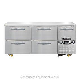 Continental Refrigerator CFA68-U-D Freezer, Undercounter, Reach-In