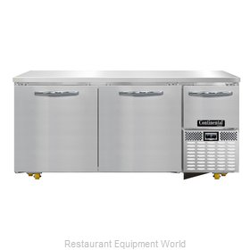 Continental Refrigerator CFA68-U Freezer, Undercounter, Reach-In