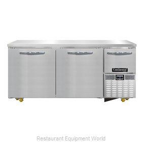 Continental Refrigerator CFA68-U Freezer, Undercounter, Reach-In