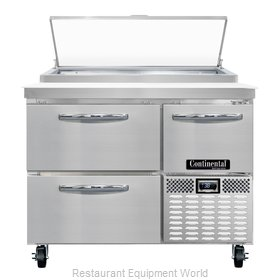 Continental Refrigerator CPA43-D Refrigerated Counter, Pizza Prep Table