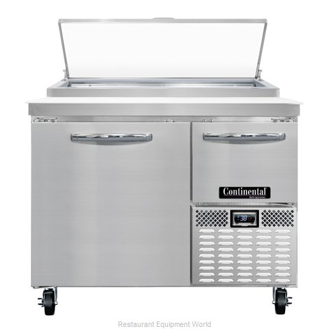 Continental Refrigerator CPA43 Refrigerated Counter, Pizza Prep Table