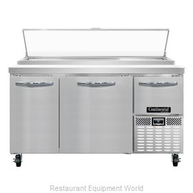 Continental Refrigerator CPA60 Refrigerated Counter, Pizza Prep Table