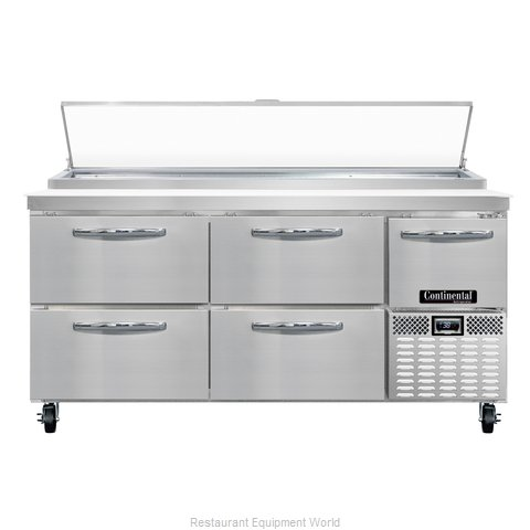 Continental Refrigerator CPA68-D Refrigerated Counter, Pizza Prep Table