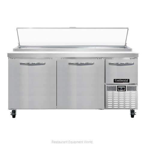 Continental Refrigerator CPA68 Refrigerated Counter, Pizza Prep Table