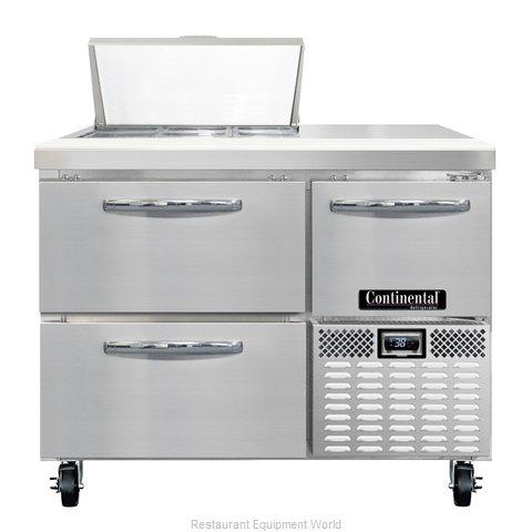 Continental Refrigerator CRA43-6-D Refrigerated Counter, Sandwich / Salad Top
