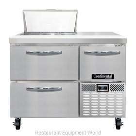 Continental Refrigerator CRA43-6-D Refrigerated Counter, Sandwich / Salad Top