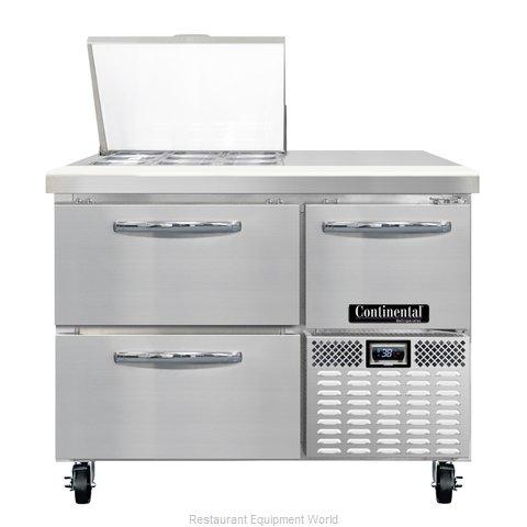 Continental Refrigerator CRA43-9M-D Refrigerated Counter, Mega Top Sandwich / Sa