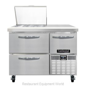 Continental Refrigerator CRA43-9M-D Refrigerated Counter, Mega Top Sandwich / Sa