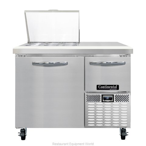 Continental Refrigerator CRA43-9M Refrigerated Counter, Mega Top Sandwich / Sala