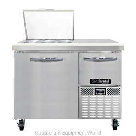 Continental Refrigerator CRA43-9M Refrigerated Counter, Mega Top Sandwich / Sala