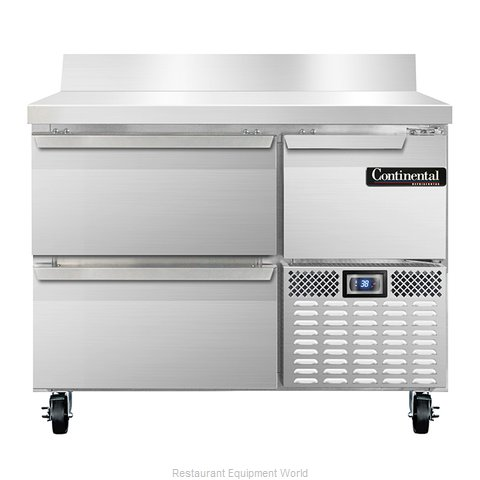 Continental Refrigerator CRA43-BS-D Refrigerated Counter, Work Top