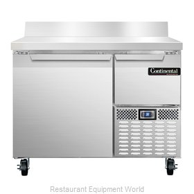 Continental Refrigerator CRA43-BS Refrigerated Counter, Work Top