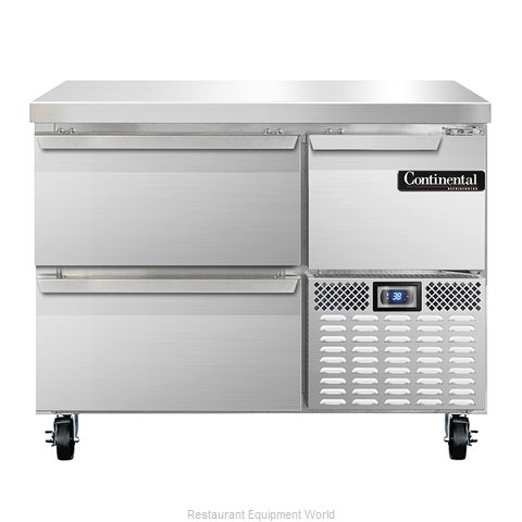 Continental Refrigerator CRA43-D Refrigerated Counter, Work Top