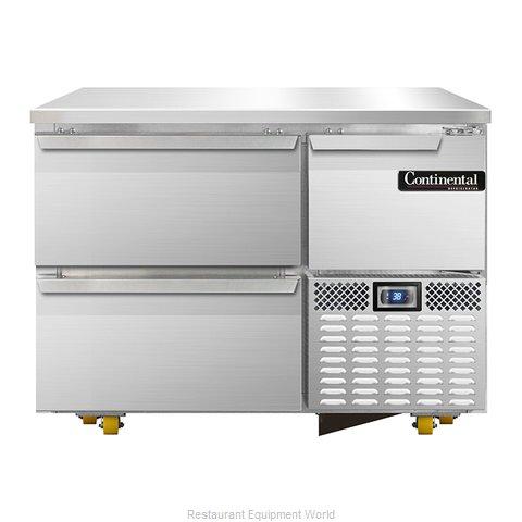 Continental Refrigerator CRA43-U-D Refrigerator, Undercounter, Reach-In