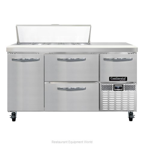 Continental Refrigerator CRA60-10-D Refrigerated Counter, Sandwich / Salad Top