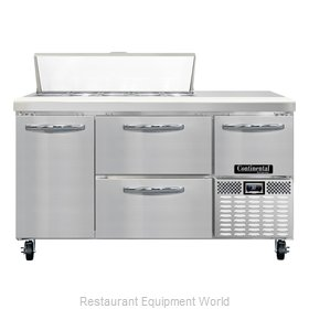 Continental Refrigerator CRA60-10-D Refrigerated Counter, Sandwich / Salad Top