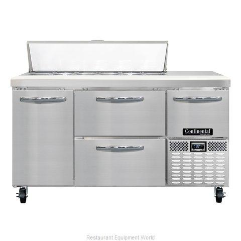 Continental Refrigerator CRA60-12-D Refrigerated Counter, Sandwich / Salad Top