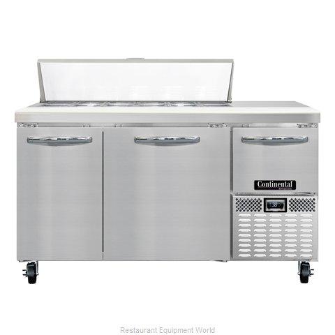 Continental Refrigerator CRA60-12 Refrigerated Counter, Sandwich / Salad Top