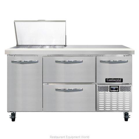 Continental Refrigerator CRA60-12M-D Refrigerated Counter, Mega Top Sandwich / S