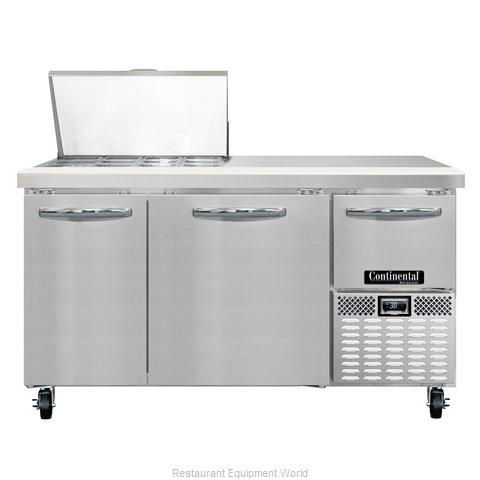 Continental Refrigerator CRA60-12M Refrigerated Counter, Mega Top Sandwich / Sal