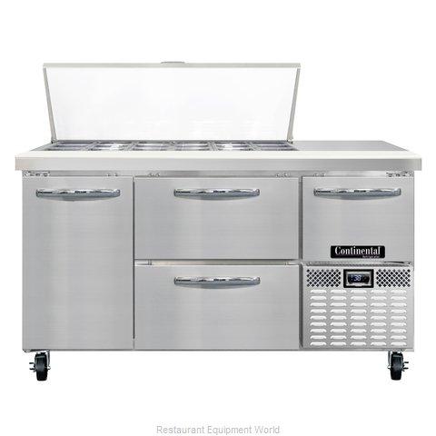 Continental Refrigerator CRA60-18M-D Refrigerated Counter, Mega Top Sandwich / S