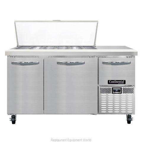 Continental Refrigerator CRA60-18M Refrigerated Counter, Mega Top Sandwich / Sal