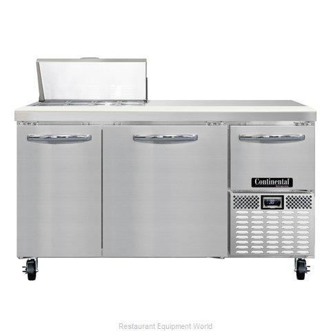 Continental Refrigerator CRA60-8 Refrigerated Counter, Sandwich / Salad Top