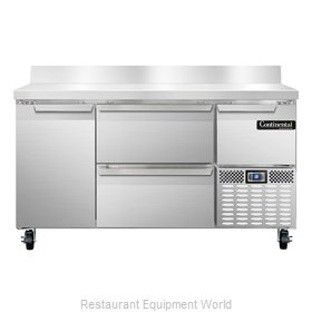 Continental Refrigerator CRA60-BS-D Refrigerated Counter, Work Top