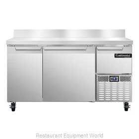 Continental Refrigerator CRA60-BS Refrigerated Counter, Work Top
