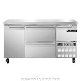 Continental Refrigerator CRA60-D Refrigerated Counter, Work Top
