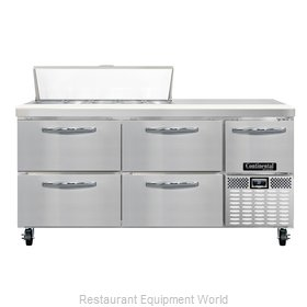 Continental Refrigerator CRA68-10-D Refrigerated Counter, Sandwich / Salad Top