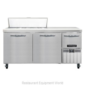 Continental Refrigerator CRA68-10 Refrigerated Counter, Sandwich / Salad Top