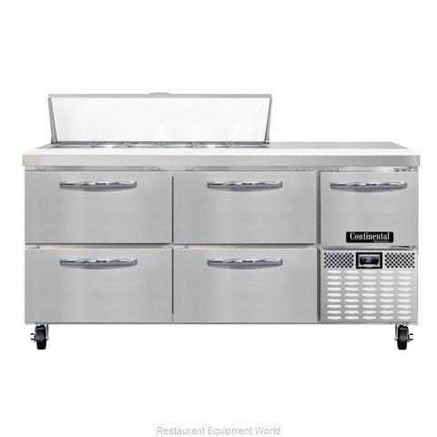 Continental Refrigerator CRA68-12-D Refrigerated Counter, Sandwich / Salad Top