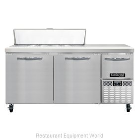 Continental Refrigerator CRA68-12 Refrigerated Counter, Sandwich / Salad Top