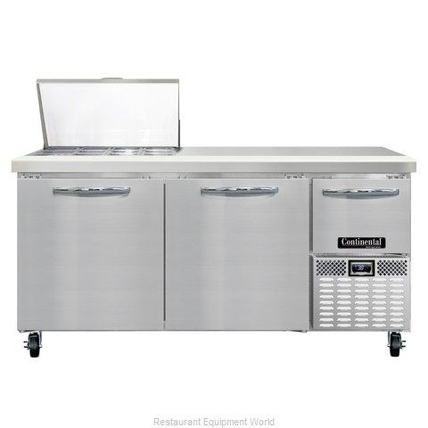 Continental Refrigerator CRA68-12M Refrigerated Counter, Mega Top Sandwich / Sal