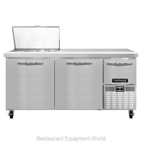 Continental Refrigerator CRA68-12M Refrigerated Counter, Mega Top Sandwich / Sal