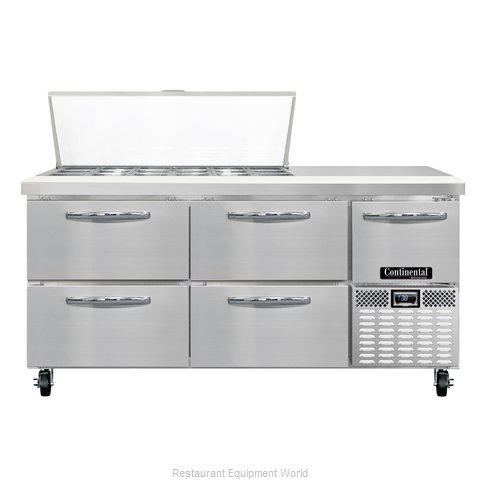 Continental Refrigerator CRA68-18M-D Refrigerated Counter, Mega Top Sandwich / S