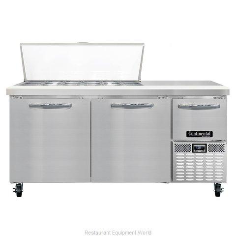 Continental Refrigerator CRA68-18M Refrigerated Counter, Mega Top Sandwich / Sal