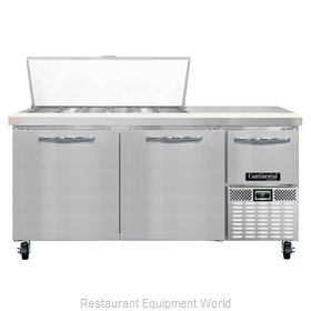 Continental Refrigerator CRA68-18M Refrigerated Counter, Mega Top Sandwich / Sal