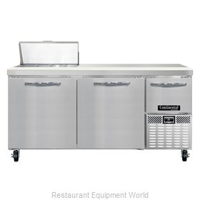 Continental Refrigerator CRA68-8 Refrigerated Counter, Sandwich / Salad Top