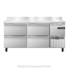 Continental Refrigerator CRA68-BS-D Refrigerated Counter, Work Top