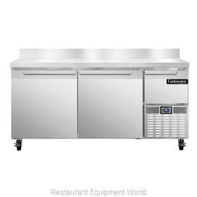 Continental Refrigerator CRA68-BS Refrigerated Counter, Work Top