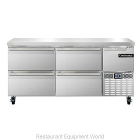Continental Refrigerator CRA68-D Refrigerated Counter, Work Top