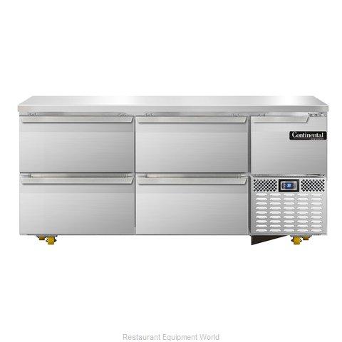 Continental Refrigerator CRA68-U-D Refrigerator, Undercounter, Reach-In