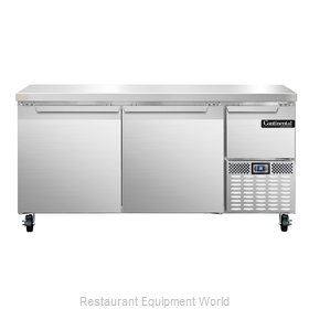 Continental Refrigerator CRA68 Refrigerated Counter, Work Top