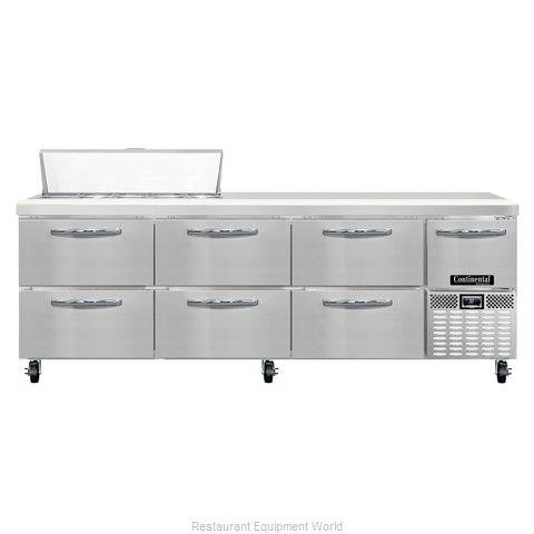 Continental Refrigerator CRA93-10-D Refrigerated Counter, Sandwich / Salad Top