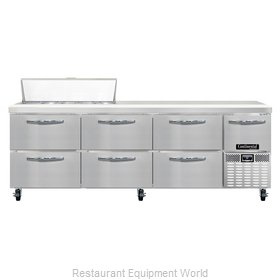 Continental Refrigerator CRA93-10-D Refrigerated Counter, Sandwich / Salad Top